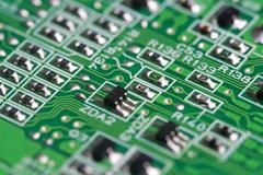 electronic pcb background - stock photo
