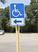 Handicapped parking sign Stock Photos