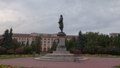 Monument to Lomonosov hyperlapse Stock Footage