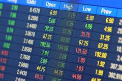 Financial data- stock exchange Stock Photos