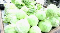 Vegetable shop at fresh public market community in Bangkok, Thailand Stock Footage