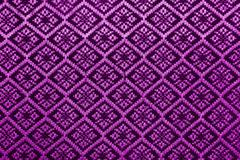 Purple diamond pattern fabric Stock Photos