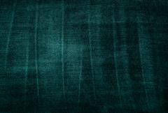 vintage threadbare green fabric texture - stock photo