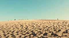 Great Dune of Pyla the tallest sand dune in europe, France  Stock Footage