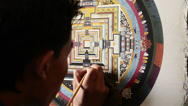 Stock Video Footage of Мandala. Buddhist artist draws tank 2