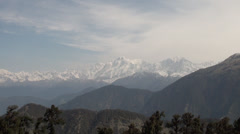 Himalayas view from Tungnath Stock Footage