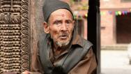 Stock Video Footage of Portrait of an old monk