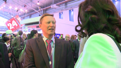 Sergey Ivanov at the St. Petersburg International Economic Forum Stock Footage