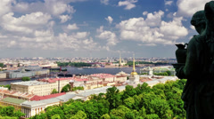 Beautiful view on St.Petersburg Stock Footage