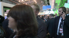 Visitors of the  St. Petersburg International Economic Forum Stock Footage