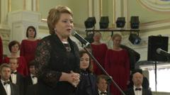 Valentina Matvienko at the St. Petersburg International Economic Forum Stock Footage