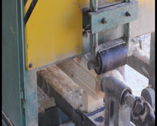 Square wood chip grinding machine process, click for HD Stock Footage