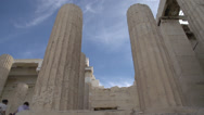 Stock Video Footage of acropolis pillars extreme low angle