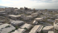 Stock Video Footage of Acropolis Parthenon pan reveal