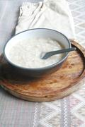 gruel in dish - stock photo