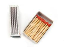 Match and box isolated Stock Photos