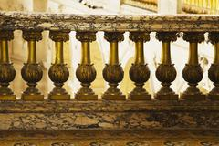 Railing in the palace, Chateau de Versailles, Versailles, Paris, France Stock Photos