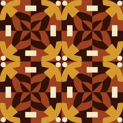 Brown seamless pattern made from man figures. - stock illustration
