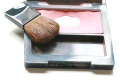 make up powder and brush - stock photo