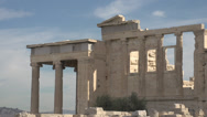 Stock Video Footage of acropolis Erechtheum, med wide shot