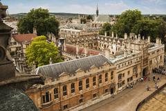 Yliopiston rakennuksia kaupunki, Oxford University, Oxford, Oxfordshire, England Kuvituskuvat