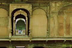 Tourists in a fort, Red Fort, Delhi, India Stock Photos