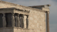 Stock Video Footage of Acropolis Erechtheum detail