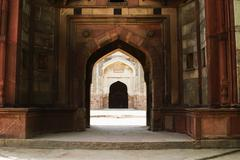 Archway in a fort, Old Fort, Delhi, India - stock photo