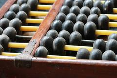 Wooden ball of abacus Stock Photos