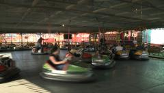 Dodgem Cars at Fun Fair Stock Footage