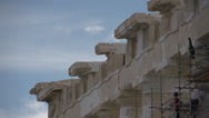 Stock Video Footage of Acropolis Parthenon detail peak