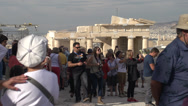 Stock Video Footage of Acropolis tourists lots of them