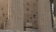 Stock Video Footage of Acropolis Parthenon pillars tilt up, medium shot