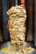 Shawarma is one of the most popular fast food dish in middle eastern countrie Stock Photos