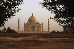 Facade of a mausoleum, Taj Mahal, Agra, Uttar Pradesh, India - stock photo