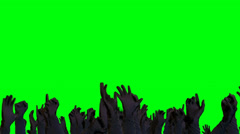 Crowd Raising hands and Cheering on a Green Screen Background Stock Footage