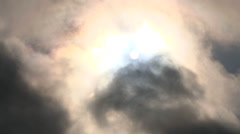 Dark and Eerie Cloudscape - stock footage