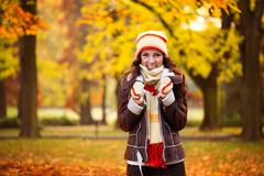 cold autumn - stock photo