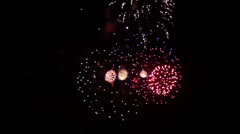 4th of July Fireworks Finale - stock footage