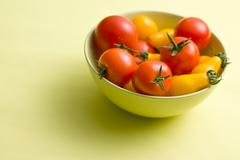 Stock Photo of various tomatoes in bowl