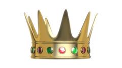 Royal crown rotation Stock Footage