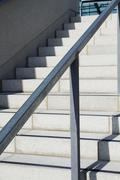 Staircase of a stadium, Aviva Stadium, Dublin, Republic of Ireland - stock photo