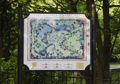 Close-up of map of a park, St Stephen's Green, Dublin, Republic of Ireland Stock Photos