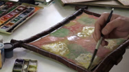 Stock Video Footage of Waterpainting in Uzbekistan
