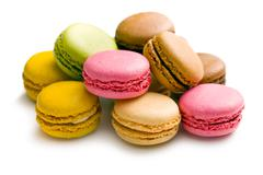 various types of macaroons - stock photo