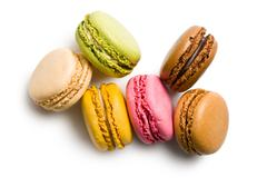 Various types of macaroons Stock Photos