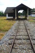 Railroad to a house Stock Photos