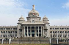 Stock Photo of Facade of a government building, Vidhana Soudha, Bangalore, Karnataka, India