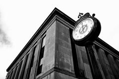 Stock Photo of Courthouse clock on a city square