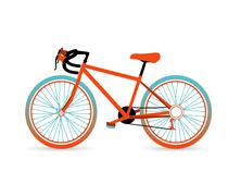 Stock Illustration of colorful bicycle